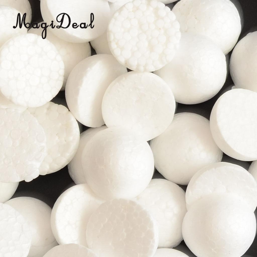 MagiDeal 5 Pieces Half Round Solid Polystyrene Foam Balls for Christmas Decoration Modelling Kids Craft 120mm Tree Ornament