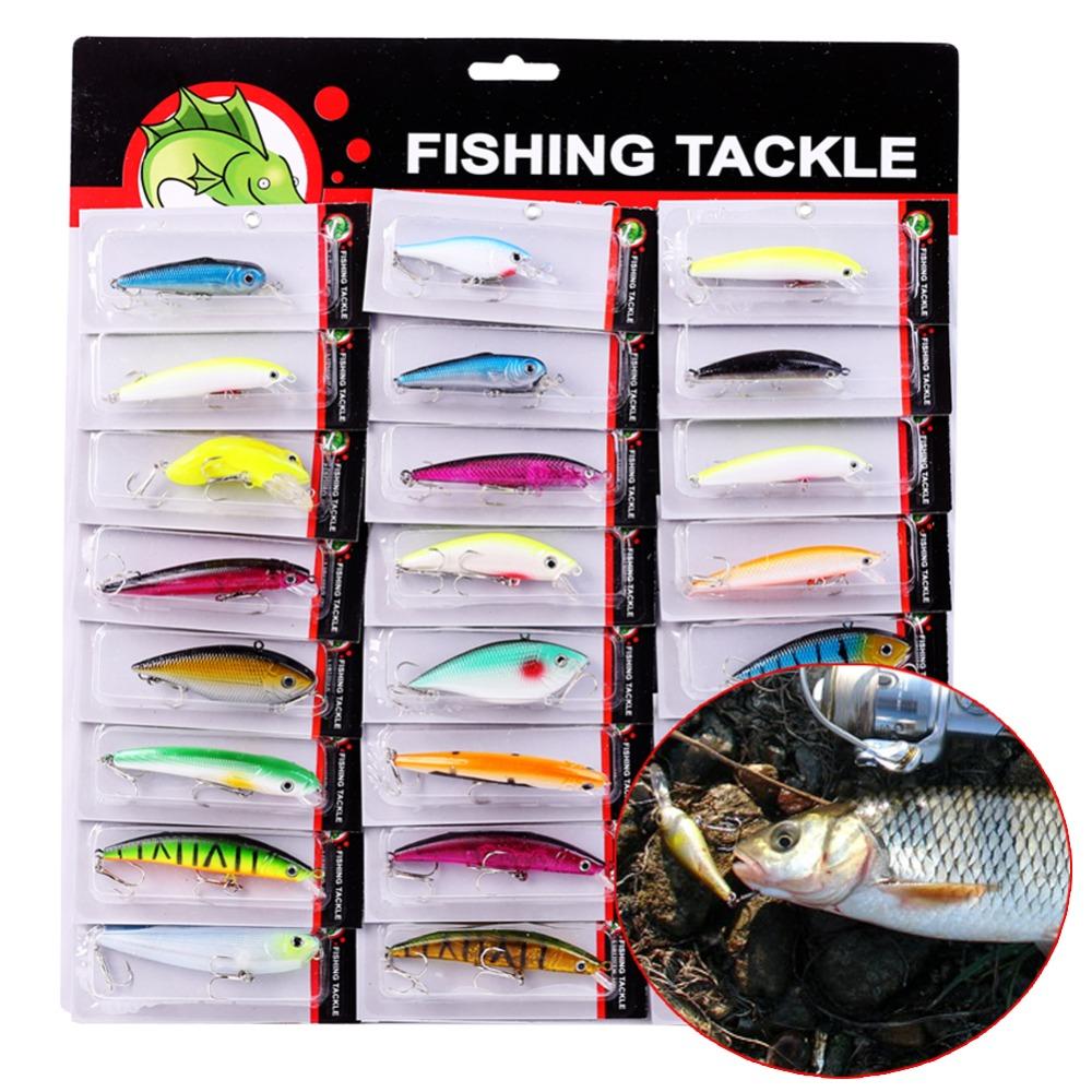 Artificial 3D Eye Fishing Tackle Lures Hard Crankbaits Fishing Gear Wobbler Saltwater Freshwater Fishing Lures 24pcs(China (Mainland))