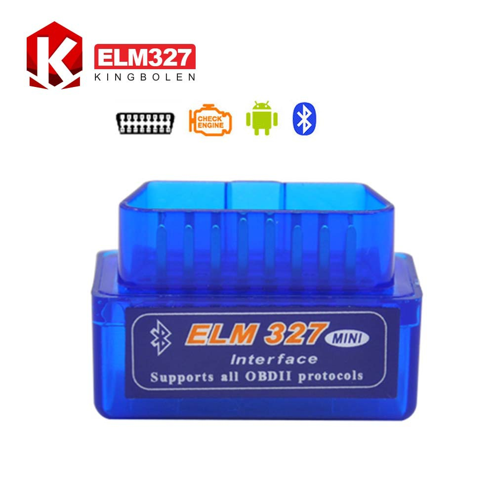2015 High Quality 3 Years Warranty Super Mini ELM 327 Bluetooth OBD2 OBD II Works On Android Torque ELM327 Free Shipping(China (Mainland))