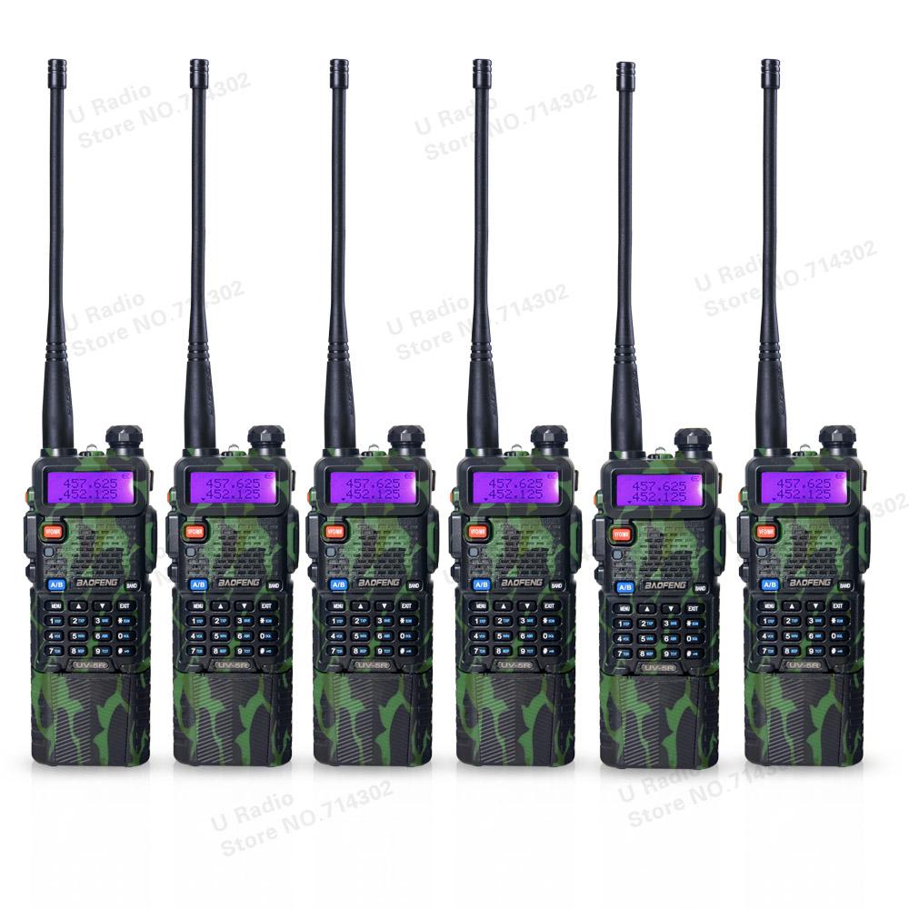 6pcs/lot BAOFENG UV-5R portable walkie talkie Camouflage 3800mAh 136-174/400-520 MHz Dual Band two way radio UV5R free earpiece(China (Mainland))