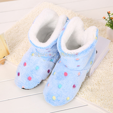 Winter Women Home Slippers Girl Christmas Indoor Shoes Warm Contton Slipper Plush Pantufa Soft 6 Colors