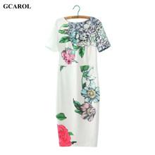 Women Floral Print Cheongsam Dress Slim Stretch White Chinese Dresses Sexy Elegant Party Vintage Dress For Ladies Long Dress(China (Mainland))