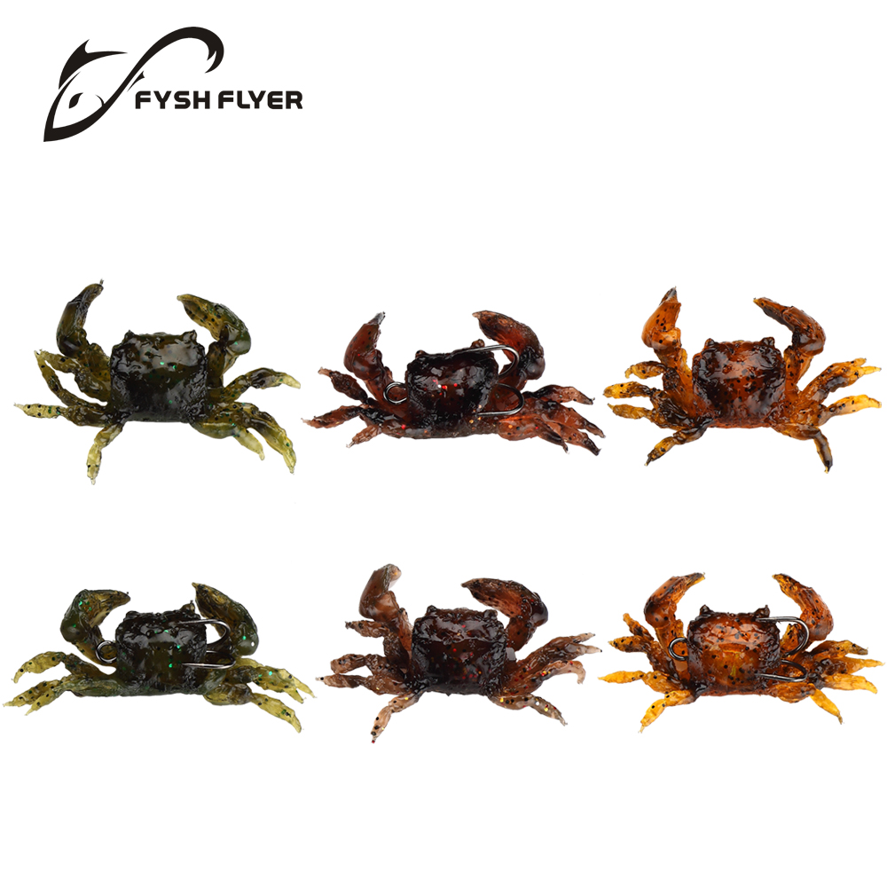 5pcs Lifelike Artificial Soft Fishing Lures Crab Bait With Sharp Hooks, Fishing Tackle Accessory Tool, Free shipping CR80(China (Mainland))