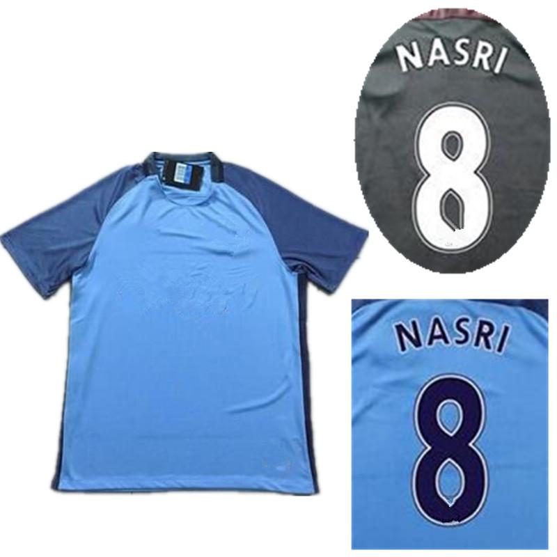 20162017 Hot soccer jerseys Thailand quality STERLING NASRI KUN AGUERO DE BRUYNE SILVA(China (Mainland))