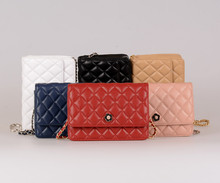 Hot sell, 100% genuine leather classic women's shoulder bag, cross body bag,wallet on chain for FREE SHIPPING