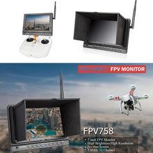 Free shipping!Feelworld FPV758 7″ 5.8G 32ch HD 1024×600 FPV HDMI Drone Camera Monitor Receiver