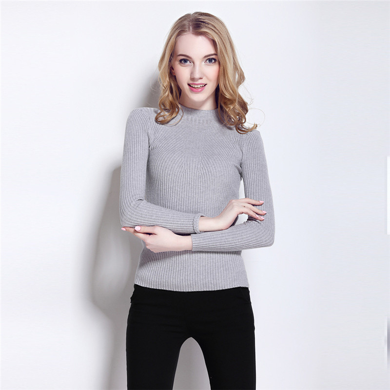 New Arrival 2016 Spring Sweater Women Slim Half Turtleneck ...