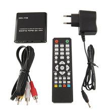 New 1080P Mini Media Player MKV/H.264/RMVB Full HD W/ USB/SD Card Reader Black Auto Play High Quality(China (Mainland))