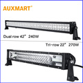 Auxmart 42 22 Dual Tri Row LED Light Bar Cree Chips offroad combo beam bar light