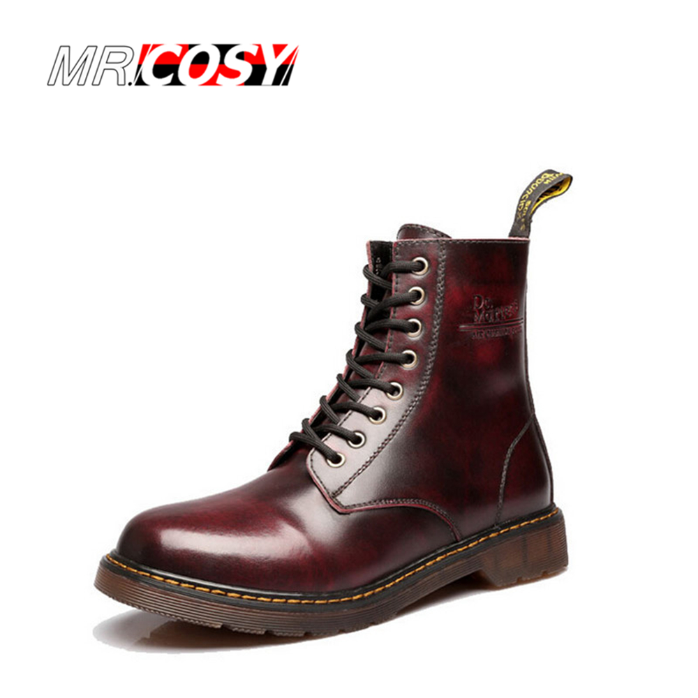 Гаджет  Plus Size Fashion Winter Leather Dr Martin Boots Martin High Top Casual Shoes Men Women Boots Ankle Botas Brand Motorcycle Boots None Обувь