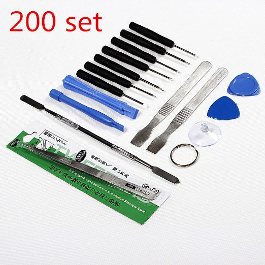 200 set 16pcs Repair Opening Pry Tools Screwdriver Kit Set for iPhone 3G/ 4S / 4 / iPod / iPad / Samsung / HTC Free Shipping(China (Mainland))