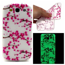 For Samsung Galaxy S3 I9300 S3 Neo S3 Duos Luxury Luminous Transparent TPU Case Glow in the Dark Slim Soft Silicone Phone Covers