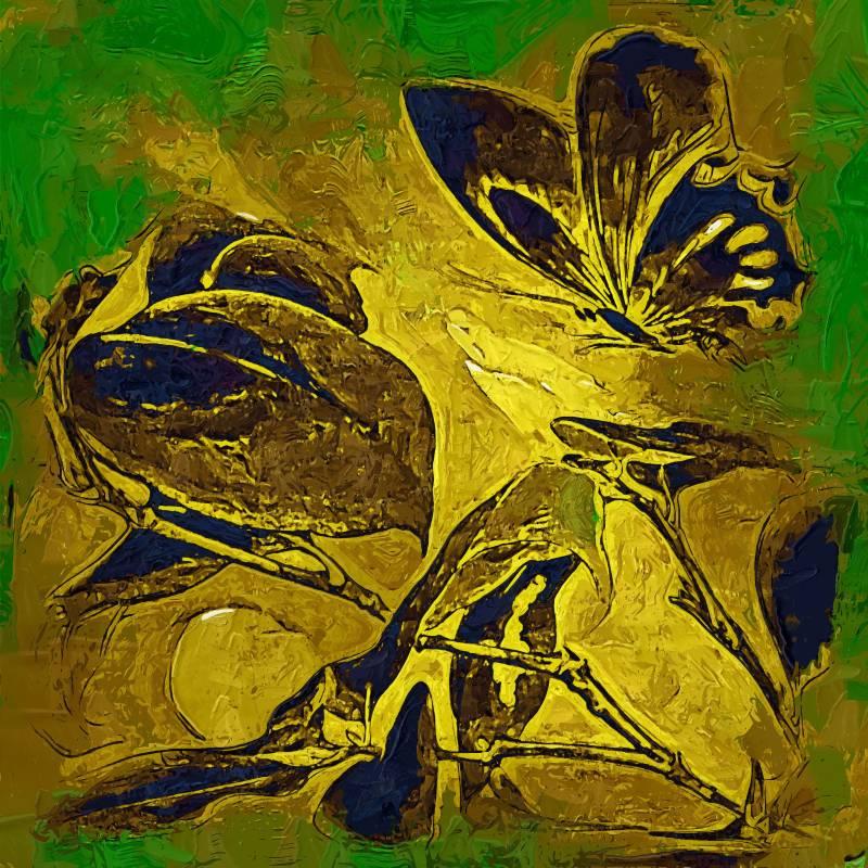 Compra mariposa abstracta fotos online al por mayor de - Enmarcar lienzo ...