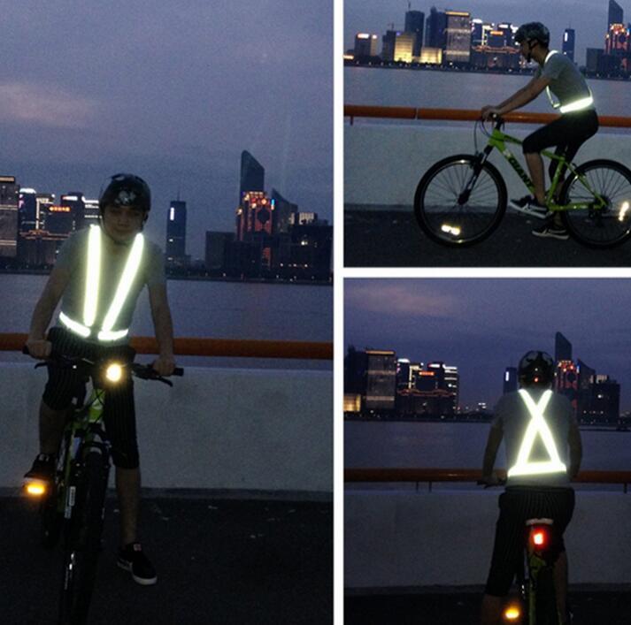 Высокое качество безопасности светоотражающий жилет легкие и регулируемый для бега, Велоспорт, Деятельность, Мотоцикле или бега и 012