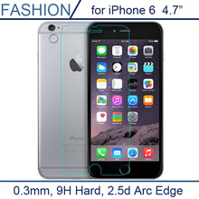 Free shipping 0.26MM 9H Tempered Glass Screen Protector For iPhone 6  Explosion Proof Clear Toughened Protective Film