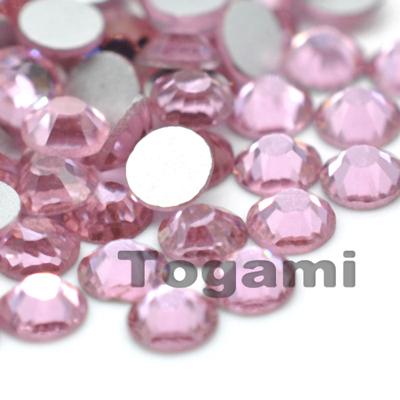1440pcs/lot ss3(1.3-1.4mm) light rose nail art decorations diy loose glass glitter flatback crystal rhinestones for nails(China (Mainland))