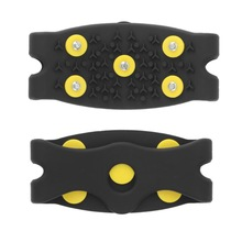 Delicate Snow Ice Climbing Anti Slip Spikes Grips Crampon Cleats 5-Stud Shoes Cover Hot Selling dcuxi New Dropping Shipping(China (Mainland))