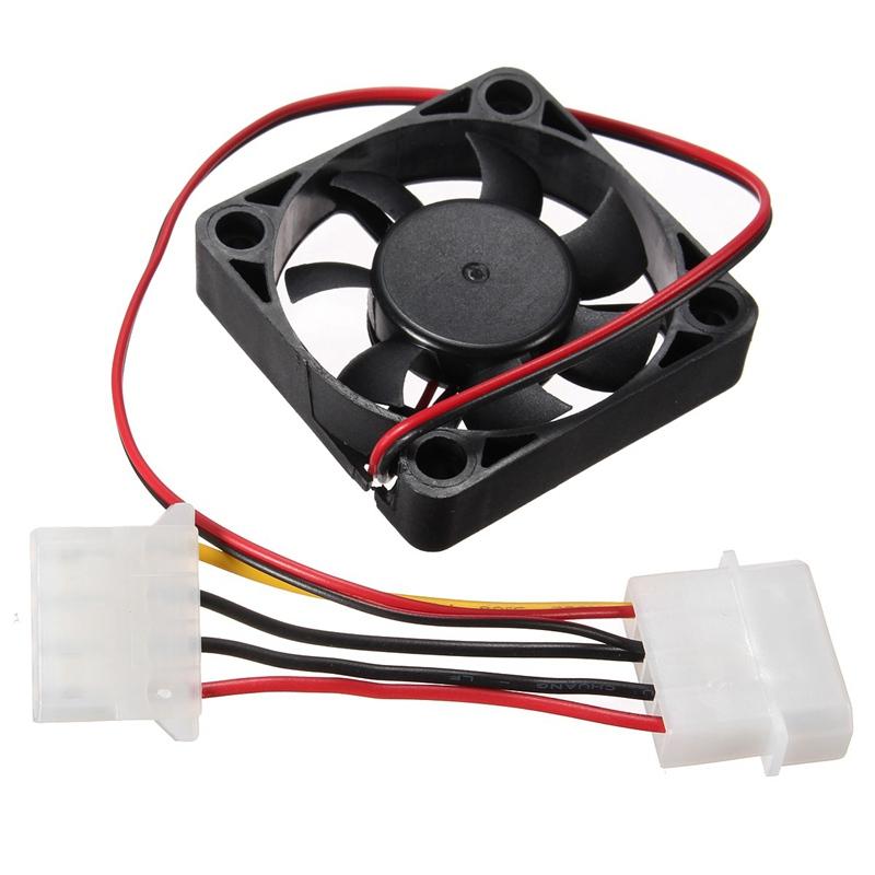 4 Pin 50*50*10mm Cooler Fan Heatsink Cooling Radiator For Computer PC CPU 12V High Quality(China (Mainland))