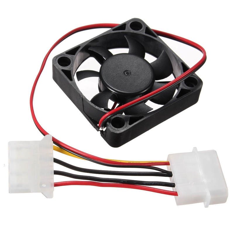 4 Pin 50*50*10mm Cooler Fan Heatsink Cooling Radiator For Computer PC CPU 12V High Quality(China (Mainland))