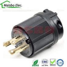 Americano 250 V 30A 3 polo NEMA L14-30P industria de bloqueo ee.uu. convertidor de potencia enchufe conector del cable de línea de Drenaje 2 unids