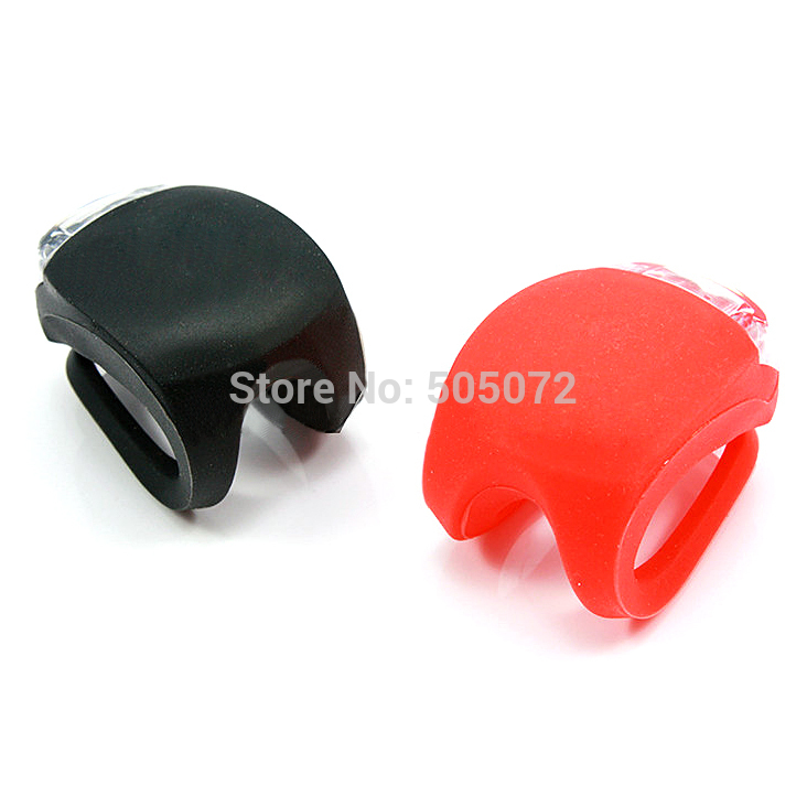 A5 Free Shipping 2pcs Lot Silicone Bike Bicycle Cycling Head Front Rear Wheel LED Flash Light