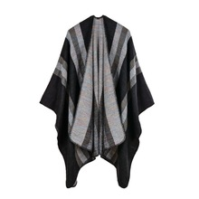 Vanled brand 2017 oversized women winter ponchos and capes vintage design lady scarf autumn pashmina stoles knit echarpe blanket(China (Mainland))