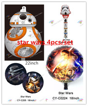 Free Shipping 40pcs/lot  Star Wars The Force Awakens Foil Balloon latex Kids Toys  Birthday party Supplies Kid Toys(China (Mainland))