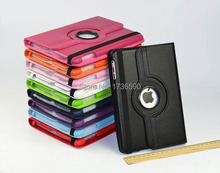 For Ipad 2/3/4 Flip PU Leather Smart Stand Magnet 360 Degree Rotating Case Cover For Ipad Free Shipping(China (Mainland))