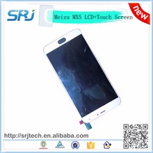 "5.5"" Meizu MX5 LCD Display+Touch Screen White Original Digitizer Glass Panel For Meizu MX5 MTK6795 Replacement Parts Assembly"
