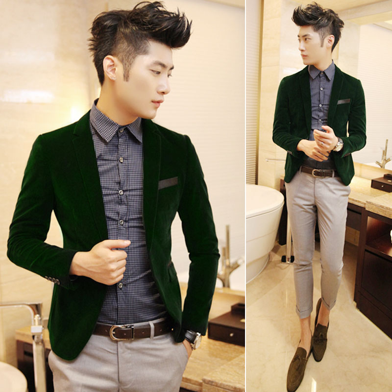 Mens Dark Green Suit Suit Outerwear Dark Green