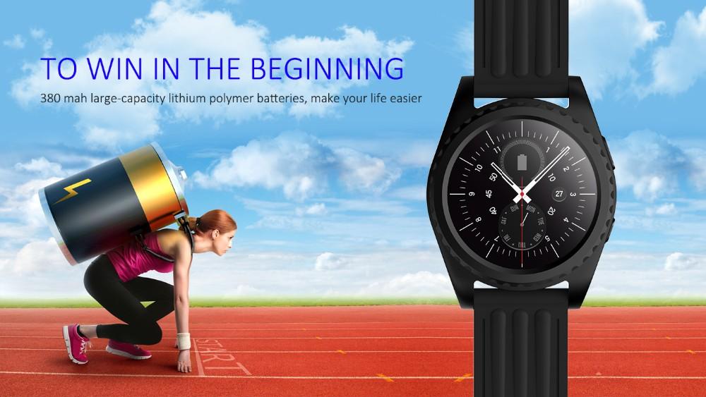 ถูก บลูทูธสมาร์ทนาฬิกานาฬิกาGS3กีฬาMTK2502 S Mart W Atch H eart Rate Monitorสำหรับa ndroid IOS PK dz09 DM09 gt08 g3 k18โทรศัพท์นาฬิกา