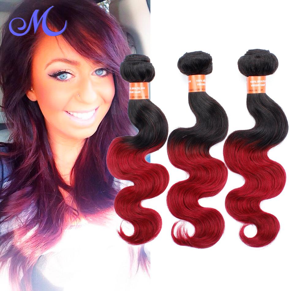 Queen Hair Brazilian Body Wave 6A Grade Brazilian Virgin Hair Body Wave Ombre Hair Weave 1B/Burgundy 3 Pcs Grey Ombre Human Hair<br><br>Aliexpress