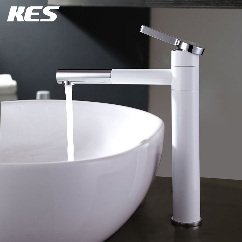 Kes l3110b l3110b bk bathroom single handle vessel sink White single handle bathroom faucet