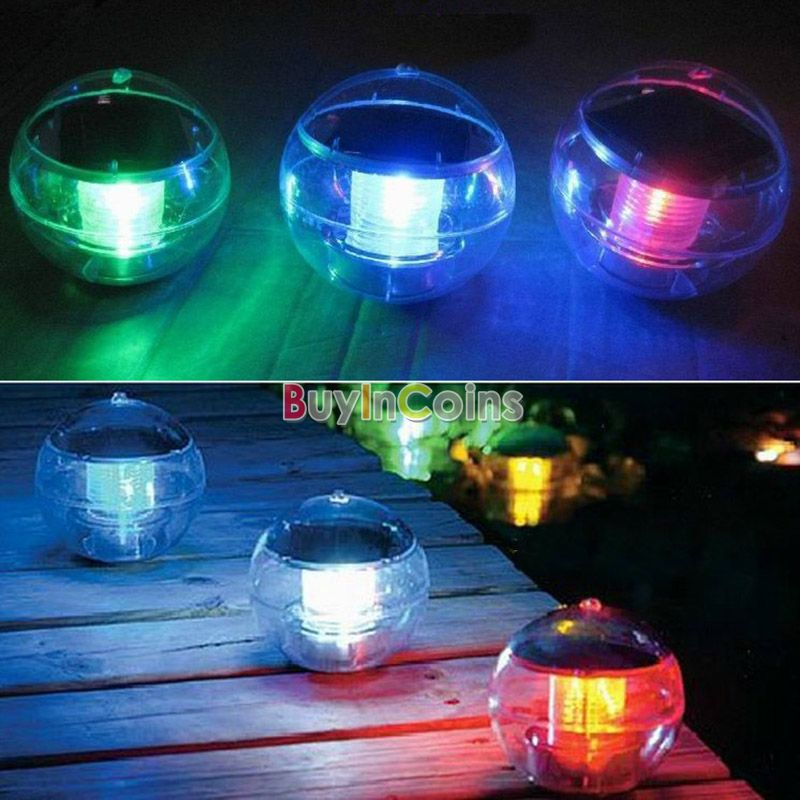 New Waterproof Solar Floating Pond Rotat Color Changing Lamp LED Light Lamp Ball US AS #20894(China (Mainland))