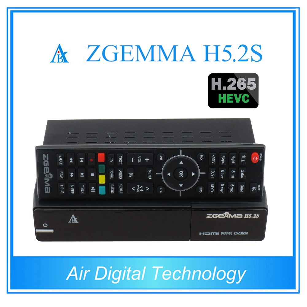 10 pcs/lot zgemma h5.2s twin DVB S/S2 support h.265 decoding with fastest cpu running(China (Mainland))