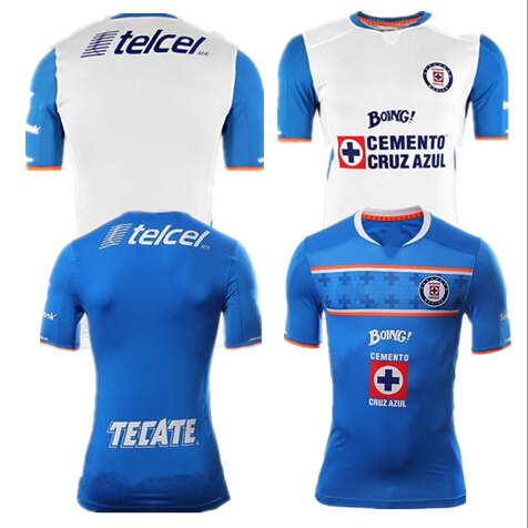 Cruz Azul De Mexico Shirts15 16 Blue Cross Football Jerseys Home Away Football Jersey Blue Cross 2016 Cruz Azul Soccer Jerseys(China (Mainland))