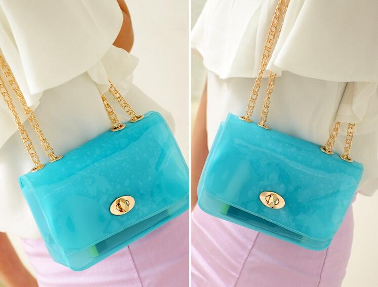 women's fashion handbag mini bag candy crystal portable small cross-body bag(China (Mainland))