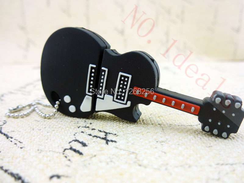usb flash drive real 2GB 4GB 8GB 16GB 32GB 64GB cheap silicone guitar-shaped USB2.0 pen drive memory stick(China (Mainland))