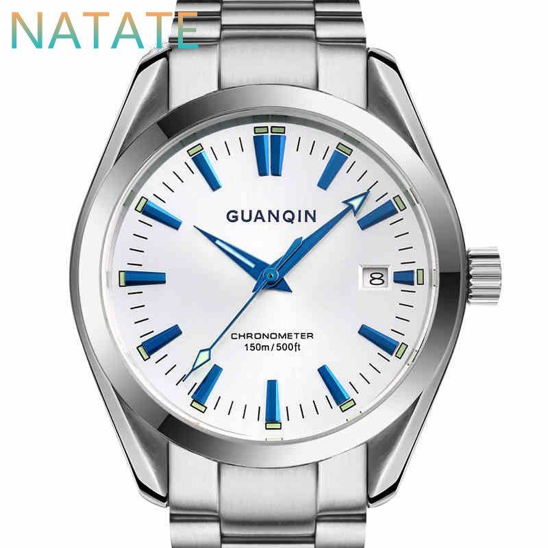 NATATE Men GUANQIN Brand Watches Fashion Luxury Watch   Automatic Self Wind Hand Wind Business waterproof Steel watches 1240<br><br>Aliexpress