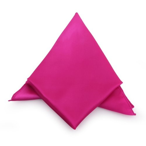 New Hot Pink Cloth Napkins Satin for Banquet Dinner Party 51x51cm