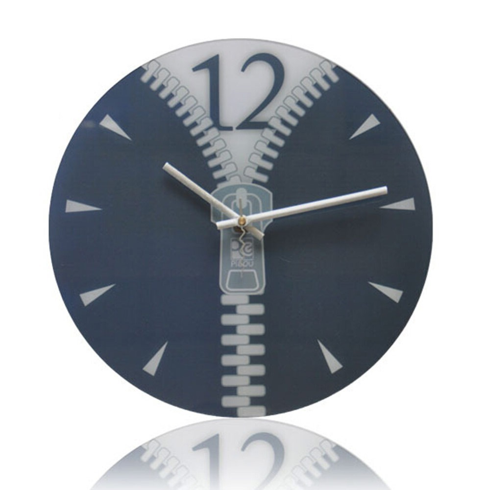 New Novelty Home Decoration Wall Clock Zipper Modern