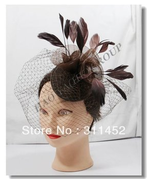 fashion roses fascinator hair accessory,4colors,beige,black,navy blue and brown 6pcs/lot