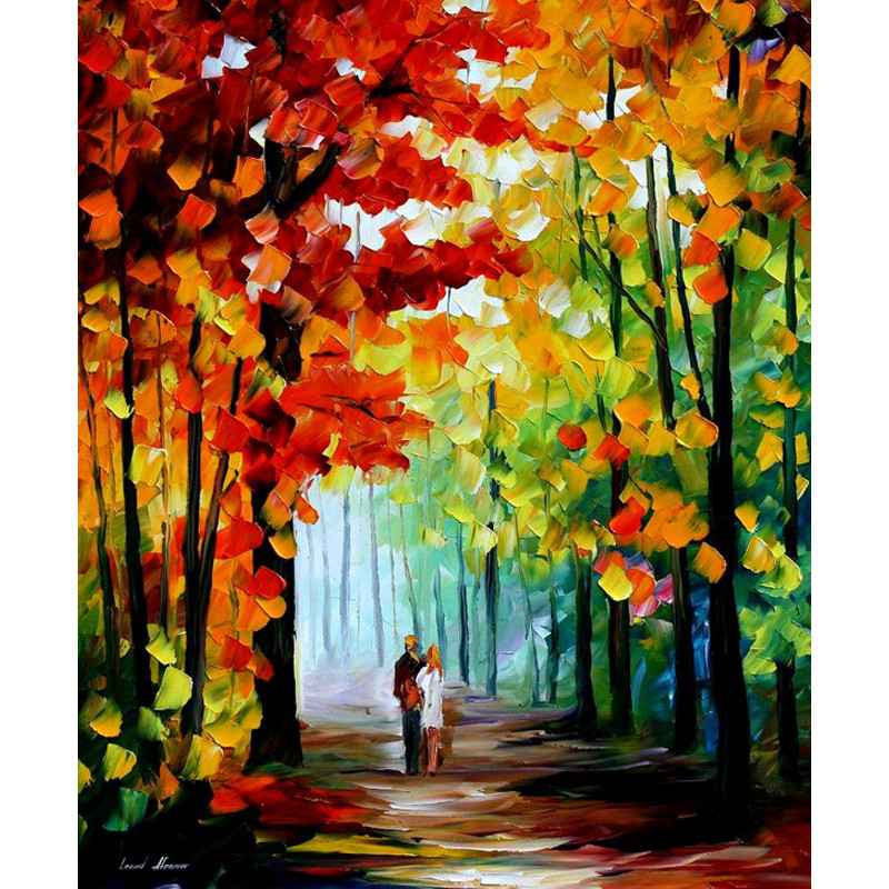 Buy New arrival Hand Painted Knife landscape Oil Painting Paintings Modern Picture For Room Decor Pictures Canvas Painting cheap