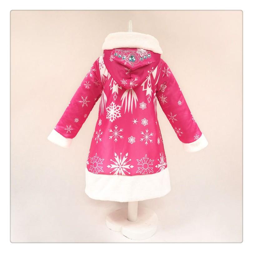 Скидки на Новорожденных девочек зимнее пальто дети снег королева девушки одежды толщиной теплая девушки пальто красные девушки зимняя куртка бесплатная доставка