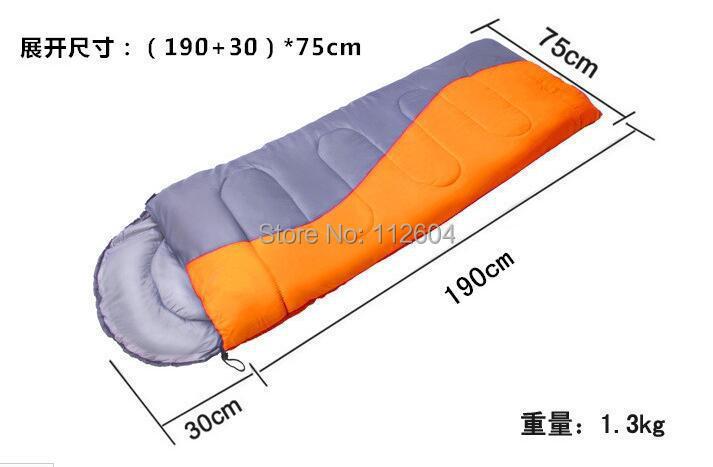 Can Be Spliced Slpeeping Bag Thick Warm Winter 1.3kg Spliced Envelope Hooded Camping Sleeping Bag