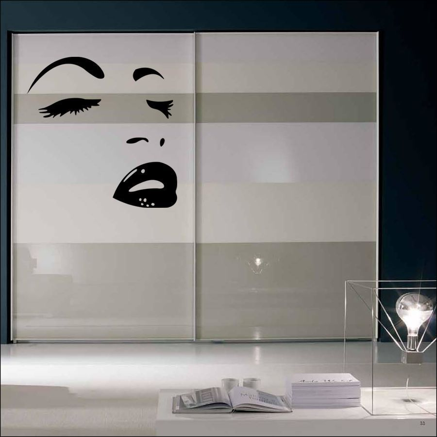 Wall Art Stickers Eyes : Vinyl wall art giant sexy eyes face lips mural sticker