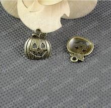 50pcs 16 * 18MM smiley pumpkin ancient bronze pendants DIY jewelry accessories Free Shipping(China (Mainland))