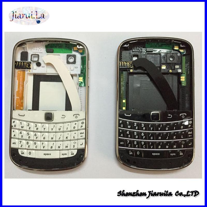 Original complete Full Set Housing + keypad +Battery Door Back Cover Case For Blackberry bold 9900 Housing(China (Mainland))