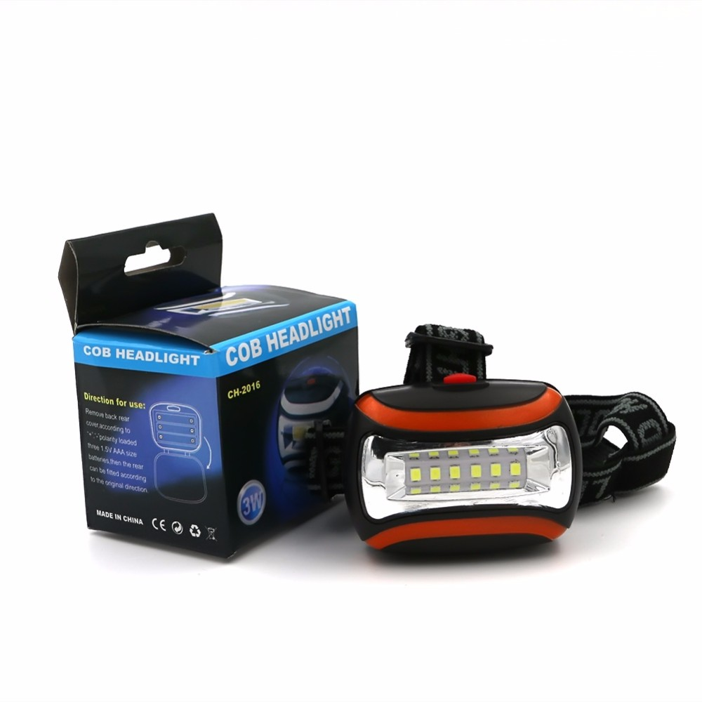 Super Bright 6 LED Headlamp Headlight  3-Mode Head Torch Light Lamp Lanterna Camping Hunting Bycling Outdoor Lighting use AAA