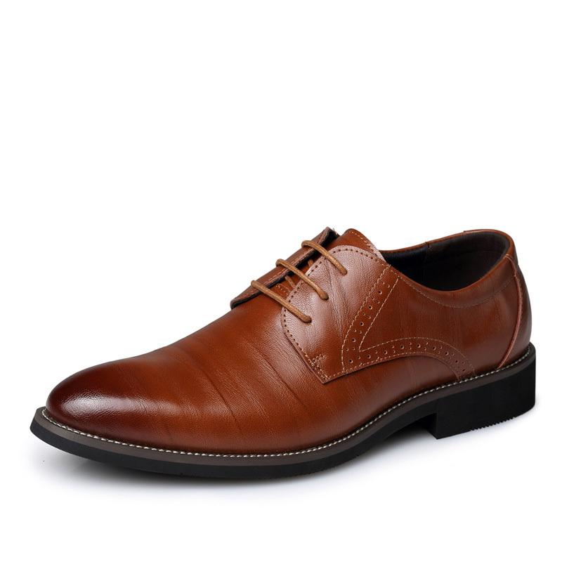 Fashion Men Flats Genuine Leather Dress Man Shoes